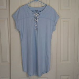 Aerie Light Blue Chambray Dress